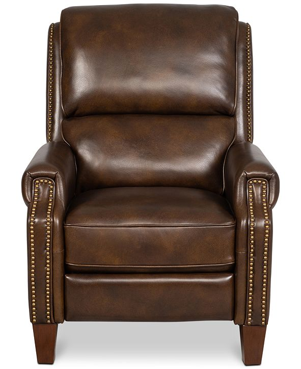 Furniture Arianlee Leather Push Back Recliner