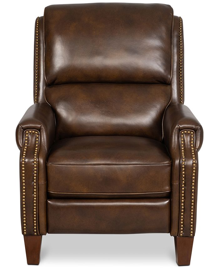 Furniture - Arianlee Leather Push Back Recliner