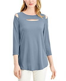 Front-Cutout Cold-Shoulder Top, Created for Macy's