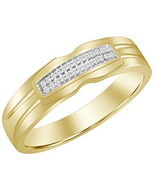 Men's Diamond Accent Band in 10K Yellow Gold