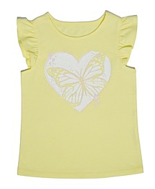 Toddler Girls Butterfly Heart T-shirt