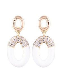 Frosted Lucite Drop Clip Earring
