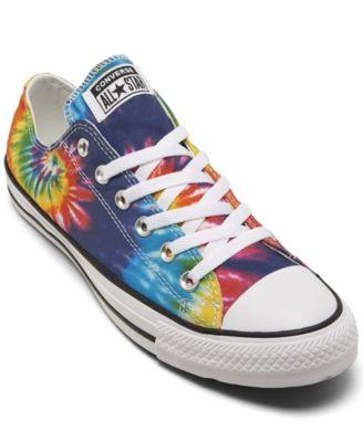Star Tie-Dye Low Top Casual Sneakers
