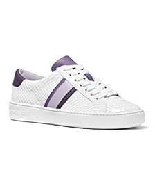 Michael Michael Kors Irving Side-Striped Lace-Up Sneakers