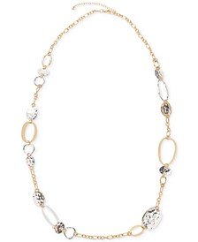 "Two-Tone Circle Station Necklace, 43"" + 3"" extender, Created for Macy's"