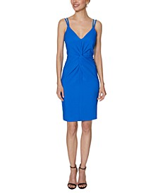 Strappy Twist-Front Sheath Dress