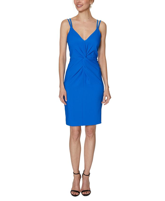 Laundry by Shelli Segal - Strappy Twist-Front Bodycon Dress