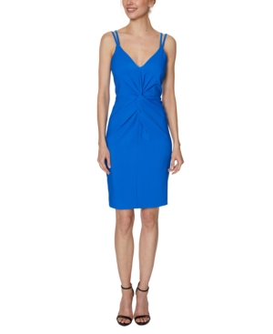 Laundry By Shelli Segal LAUNDRY BY SHELLI SEGAL STRAPPY TWIST-FRONT SHEATH DRESS