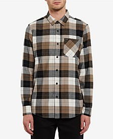 Men's Caden Modern-Fit Yarn-Dyed Plaid Flannel Shirt