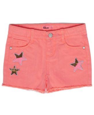 Toddler Girls Flip Sequin Graphic Denim Shorts