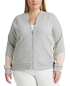 Plus Size French Terry Cotton Jacket
