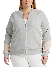 Lauren Ralph Lauren Plus Size French Terry Cotton Jacket