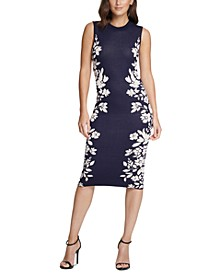 Floral-Border Sheath Dress