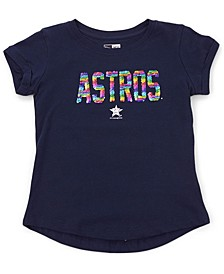 Houston Astros Youth Girls Flip Sequin T-Shirt