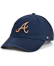 Women's Atlanta Braves Metallic Clean Up Cap