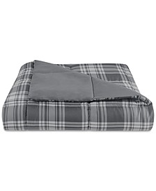 Essentials by Martha Stewart Collection Reversible Plaid Full/Queen Comforter, Created for Macy's