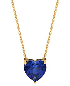 "Gemstone Heart 18"" Pendant Necklace in 10k Gold"