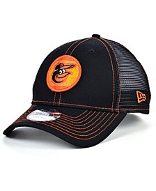 Baltimore Orioles Logo Fill Trucker 9FORTY Cap
