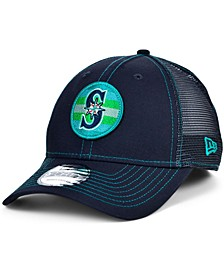 Seattle Mariners Logo Fill Trucker 9FORTY Cap