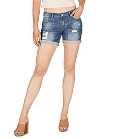 Numero Distressed Cuffed Denim Shorts