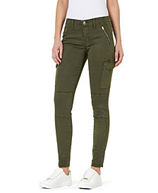 Mid-Rise Utility Skinny Jeans