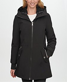 Fleece-Lined Hooded Raincoat