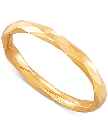 Polished Twist-Look Band in 10k Gold, Rose Gold & White Gold