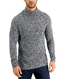 Tasso Elba Men's Chunky Marbled Turtleneck Sweater, Created for Macy's