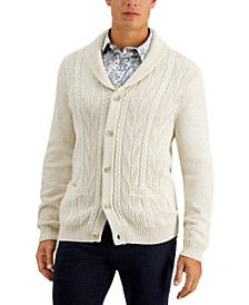 Men's Chunky Shawl-Collar Cardigan Sweater, Created for Macy's
