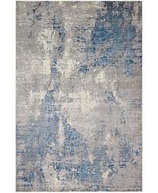 Modern SM-02 Gray/Blue 4' x 6' Area Rug