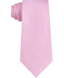 Men's Skinny Tonal Digital Chevron Tie