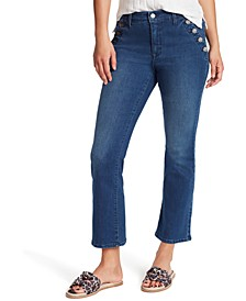 Sailor Kick-cropped Denim Jeans