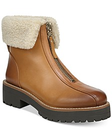 Women's Jacquie Zip-Front Lug Sole Booties