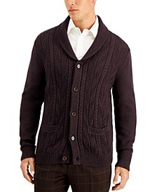 Men's Chunky Marbled Cardigan, Created for Macy's