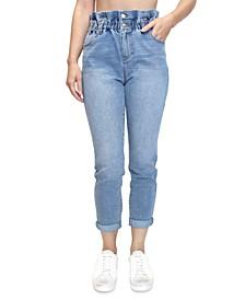 Crave Fame Juniors' Paperbag-Waist Skinny Jeans
