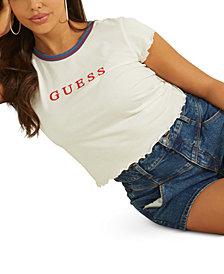 GUESS Lettuce-Edge Graphic T-Shirt