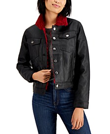 Juniors' Faux-Shearling Jacket