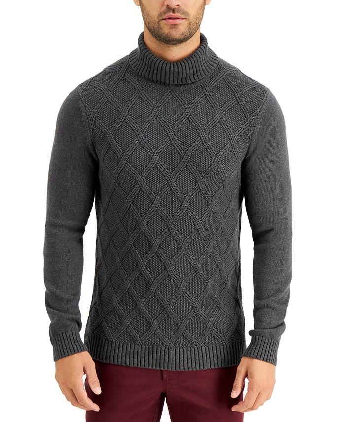 Tasso Elba - Men's Chunky Turtleneck Sweater, Created for Macy's