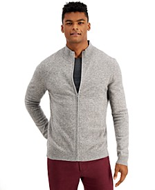 Men's Full-Zip Cashmere Sweater, Created for Macy's