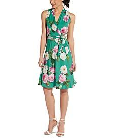 Floral-Print A-Line Dress