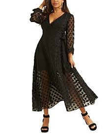 Bertha Dot-Print Maxi Dress