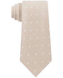 Men's Skinny Textured Grid Dot Tie