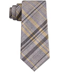 Men's Tri Contrast Plaid Skinny Tie