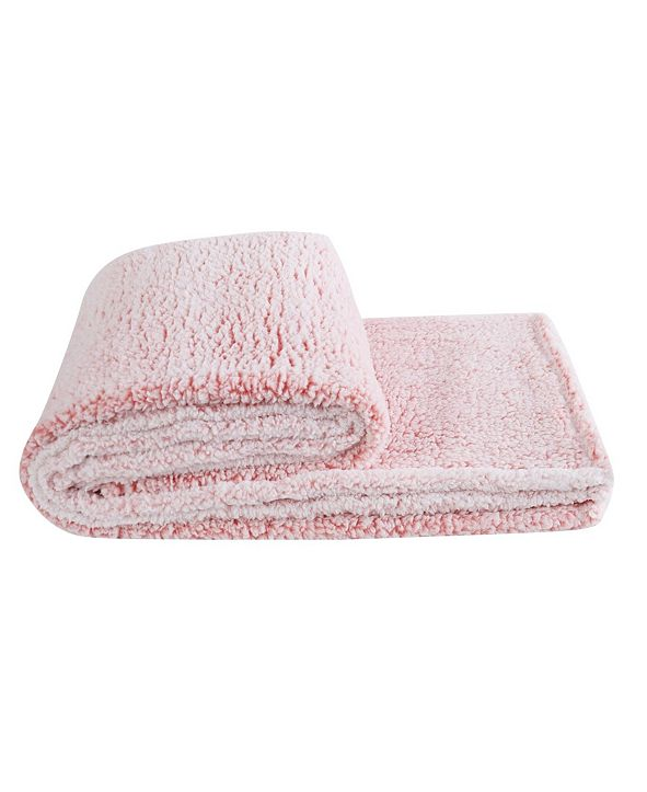 Material Girl Bottom Dye Sherpa Throw, One Size Fits All