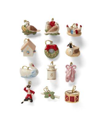Twelve Days of Christmas 12-Piece Ornament Set