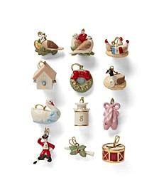 Twelve Days of Christmas 12-Piece Ornament Set