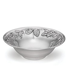Holiday Metal Pinecone & Holly Serving Bowl