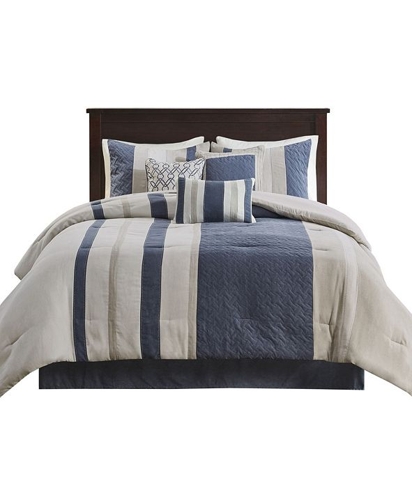Madison Park Kennedy 7 Piece California King Comforter Set