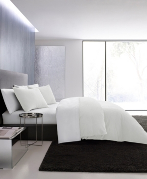 Vera Wang Waffle Pique Comforter Set, Queen Bedding In White