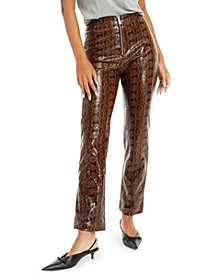 Faux-Snakeskin Pants, Created for Macy's